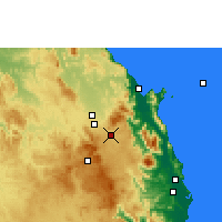Nearby Forecast Locations - Kairi - Mapa