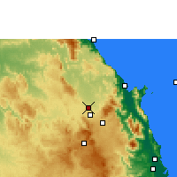Nearby Forecast Locations - Mareeba Airfield - Mapa
