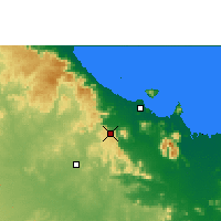Nearby Forecast Locations - Woolshed - Mapa