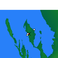 Nearby Forecast Locations - Shark Bay (Letiště) - Mapa