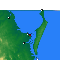 Nearby Forecast Locations - Hervey Bay (Letiště) - Mapa