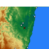 Nearby Forecast Locations - Grafton Airport Aws - Mapa