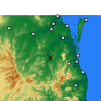 Nearby Forecast Locations - Beaudesert - Mapa
