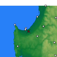 Nearby Forecast Locations - Busselton - Mapa