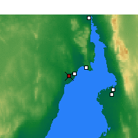 Nearby Forecast Locations - Whyalla (Letiště) - Mapa