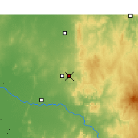Nearby Forecast Locations - Parkes - Mapa