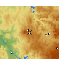Nearby Forecast Locations - Orange Letiště - Mapa