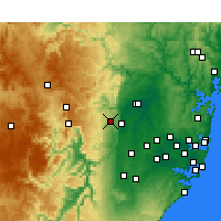 Nearby Forecast Locations - Springwood - Mapa