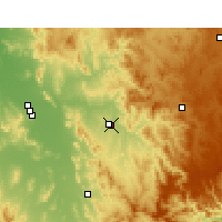 Nearby Forecast Locations - Tamworth - Mapa