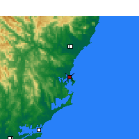 Nearby Forecast Locations - Forster - Mapa