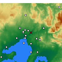 Nearby Forecast Locations - Viewbank - Mapa