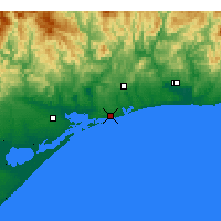 Nearby Forecast Locations - Lakes Entrance - Mapa