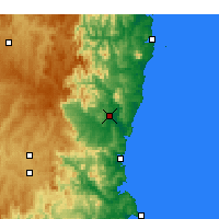 Nearby Forecast Locations - Bega - Mapa