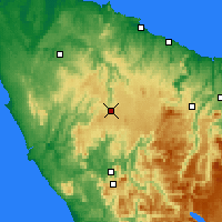 Nearby Forecast Locations - Waratah - Mapa