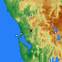 Nearby Forecast Locations - Queenstown - Mapa
