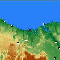 Nearby Forecast Locations - Devonport (Letiště) - Mapa