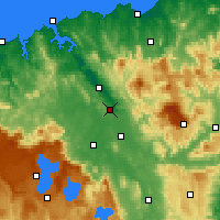 Nearby Forecast Locations - Launceston (Letiště) - Mapa