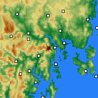 Nearby Forecast Locations - Mt Wellington - Mapa