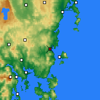 Nearby Forecast Locations - Orford - Mapa