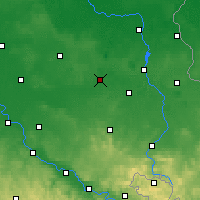 Nearby Forecast Locations - Senftenberg - Mapa