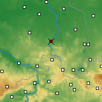Nearby Forecast Locations - Budyšín - Mapa