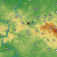 Nearby Forecast Locations - Žitava - Mapa
