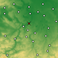 Nearby Forecast Locations - Weißenfels - Mapa