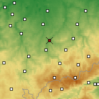 Nearby Forecast Locations - Glauchau - Mapa