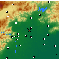 Nearby Forecast Locations - Letiště Peking - Mapa