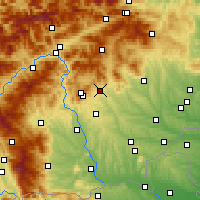 Nearby Forecast Locations - Weiz - Mapa