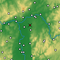 Nearby Forecast Locations - Egelsbach - Mapa