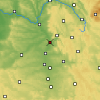 Nearby Forecast Locations - Forchheim - Mapa