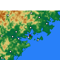 Nearby Forecast Locations - Sia-men Letiště - Mapa