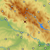 Nearby Forecast Locations - Freyung - Mapa