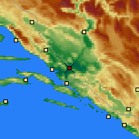 Nearby Forecast Locations - Metković - Mapa