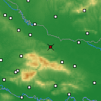 Nearby Forecast Locations - Slatina - Mapa