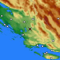Nearby Forecast Locations - Drniš - Mapa