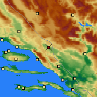 Nearby Forecast Locations - Imotski - Mapa