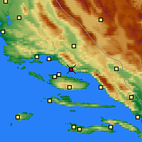 Nearby Forecast Locations - Omiš - Mapa