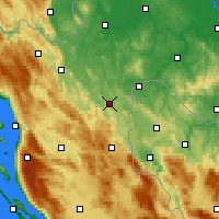 Nearby Forecast Locations - Slunj - Mapa