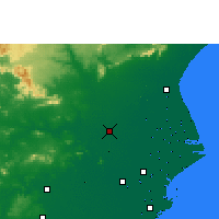 Nearby Forecast Locations - Jajpur - Mapa