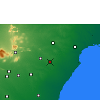Nearby Forecast Locations - Karaikudi - Mapa