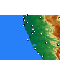 Nearby Forecast Locations - Kayamkulam - Mapa