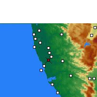 Nearby Forecast Locations - Mavelikkara - Mapa