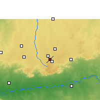 Nearby Forecast Locations - Mhowgaon - Mapa