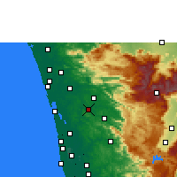 Nearby Forecast Locations - Muvattupuzha - Mapa