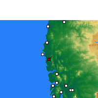 Nearby Forecast Locations - Palghar - Mapa
