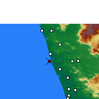 Nearby Forecast Locations - Ponnani - Mapa