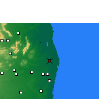 Nearby Forecast Locations - Ponneri - Mapa