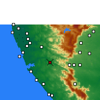 Nearby Forecast Locations - Punalur - Mapa